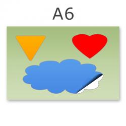 Stickerbogen DIN A6 1-3-teilig