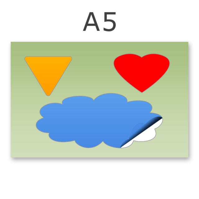 Stickerbogen DIN A5 1-3-teilig