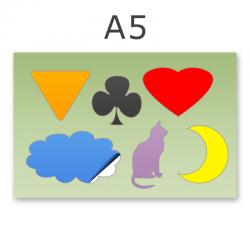 Stickerbogen DIN A5 4-6-teilig