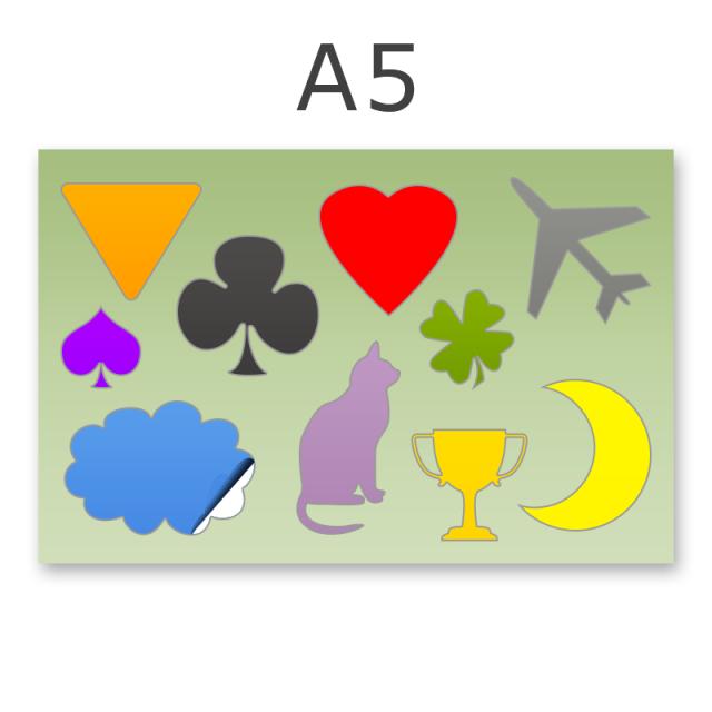 Stickerbogen DIN A5 7-10-teilig