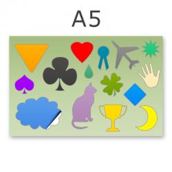 Stickerbogen DIN A5 11-15-teilig