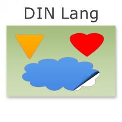 Stickerbogen DIN Lang 1-3-teilig